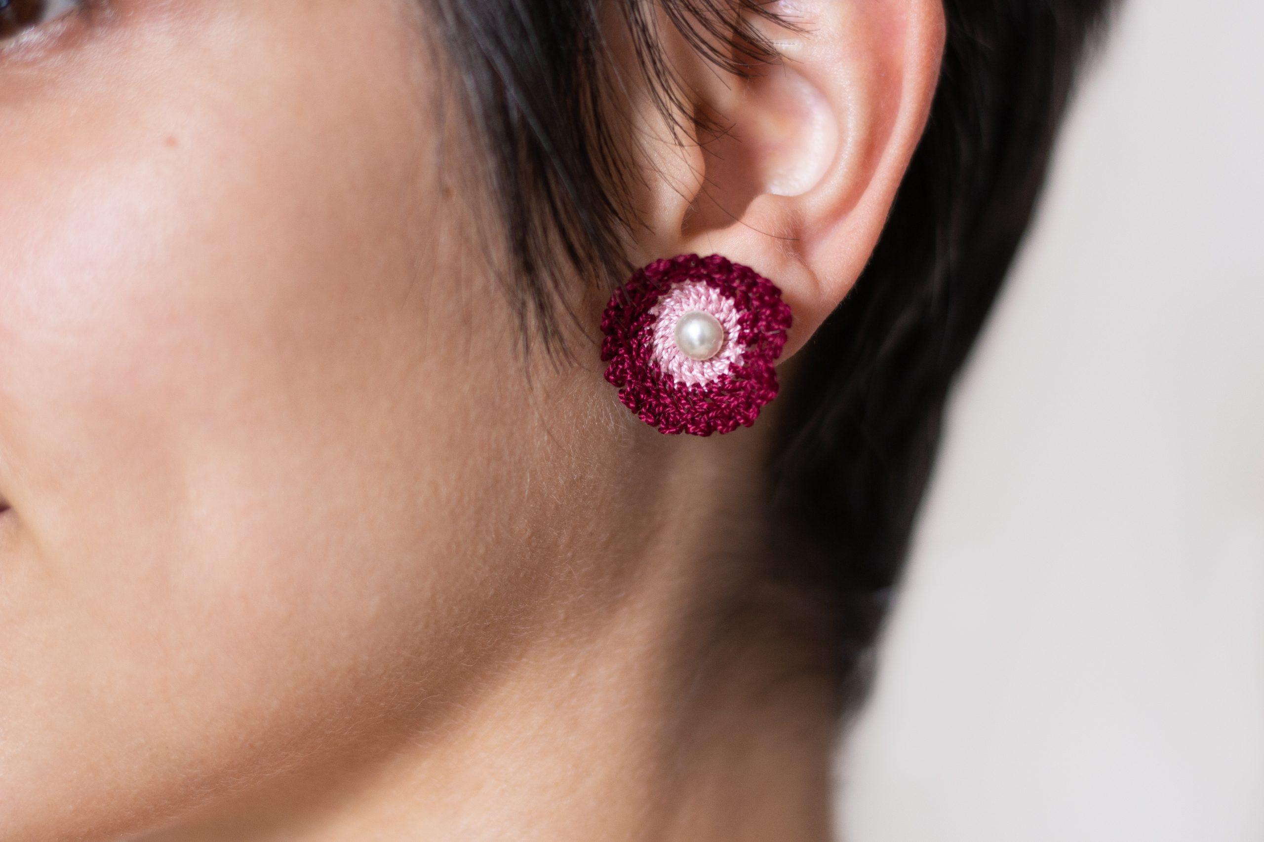 Boucles d'oreilles réalisées par La Bobine d'Emilie